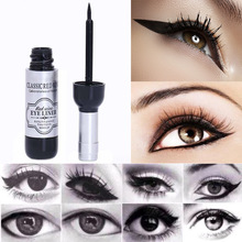 TOMTOSH 1pcs Red Wine Bottle Eyeliner Waterproof Liquid Eyeliner Cosmetics Black Beauty Tools