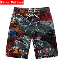 Colorful Print Boardshorts Swimwear Men Surf Swim Shorts Polyester Loose Summer Swimming Swimsuit Board Short Pants Beachshorts(China)