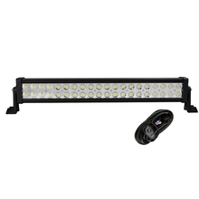 "weketory 22"" Inch 120W LED Light Bar for Work Driving Boat Car Truck 4x4 SUV ATV Off Road Fog Lamp Spot Flood Beam with Wiring"