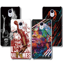 Lebron James design transparent Phone case MEIZU M5S M5 M3 M3S M2 Note MX4 MX5 MX6 U10 U20 Pro5 Pro6 protective covers