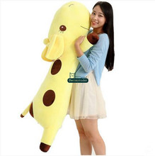 Dorimytrader 53'' / 135cm Animal Giraffe Doll Stuffed Soft Plush Large Giraffe Toy Pillow 6 Colors Free Shipping DY60452(China)