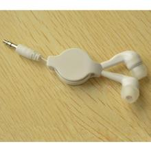 Extendable Earpiece Stretchable Cable In-Ear Earphone Headphone Headset, Portable Earphone, Straight Insert