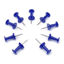 50PCs* 5 PACK  Push Pin Assorted Thumbtacks Attention Cork Board Office School Blue NEW