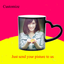 DIY  Photo Magic Color Changing Coffee Mug, CustomizeYour picture magic cup, Creative personality birthday gift to friends