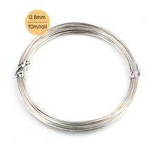 0.8mm 20Gauge 10m or 20m/piece Soft Silver Colored Copper Bright Wire Coil for Jewelry or Crafts Making Copper Beading Wire Roll