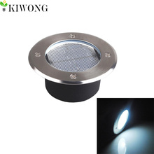 Upgraded Stainless Steel Ground Buried solar deck Light Led Lamp For PathWay Garden UnderGround Lamps Lights New Design(China)