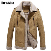 Buy England Men Fur Leather Jacket Jaqueta de Couro Masculino Fur Coat Middle-aged Mens Leather Jacket Coat Slim Fit Overcoats for $96.49 in AliExpress store