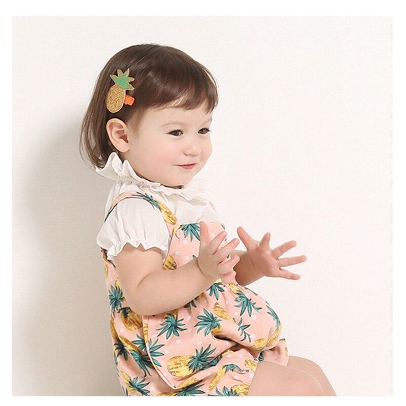 2017 Summer Baby Girls Boys Pineapple Print Strap Romper Overalls for Children Infant Toddler Child Clothing 0-24M Romper<br><br>Aliexpress