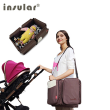 Brand insular 2 in1 multifunctional designer baby sleeping travel mama mother nappy bags backpack stroller diaper bag set tote