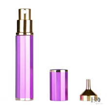 8ML Empty Perfume Atomizer Sprayer With Funnel Purple Travel Outdoor Homemade Comestic