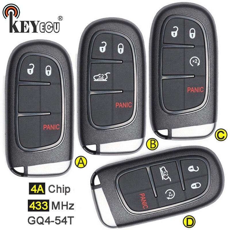 2015 2016 2017 2 Smart Key fits 2013-2018 Ram Keyless Entry Remote Fob GQ4-54T