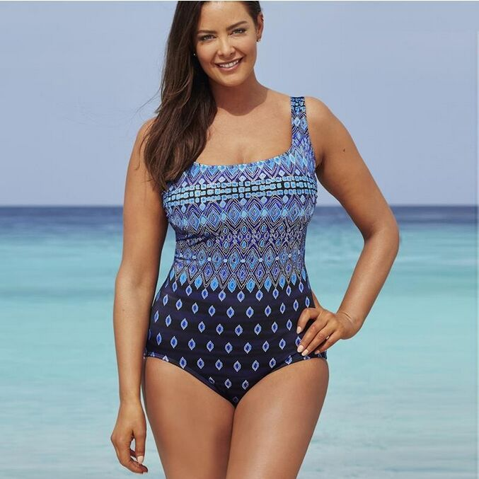 new geometric and wave patchwork one loaded swimming suit bandage push up beachwear sexy halter sexy high waist siamese bikinis<br>