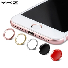 YKZ 2PCS Touch ID Aluminum Home Button Sticker Fingerprint Support For iPhone 5 5S SE 5C 6 6S 7 8 Plus With Retail Packing R20(China)