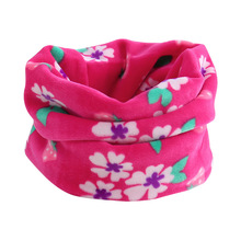 new double layer plush thick scarf for kids under 10 years fashion winter warm baby O ring collars children neckerchief wear