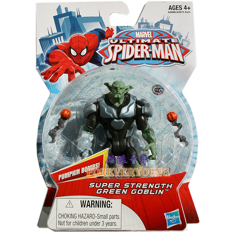 1pcs Marvel Ultimate Spider-man Web Line Net Green Goblin 3.75 action figures  classic toys for boys with retail box<br><br>Aliexpress