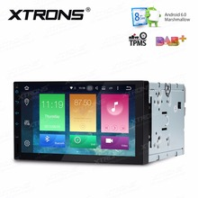 XTRONS 2 Din 7 inch HD Android 6.0 Octa 8 Core Universal Car Radio Stereo DVD Player GPS Navigation OBD TPMS DAB+ Steering Wheel