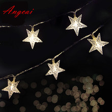 2M 3M 4M 5M Battery operated 10M AC110-220V plug in String Fairy novelty lights LED star Flower Christmas Home Garland Decor