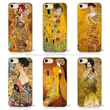 Gustav Klimt Golden Tears Oil night in venice Hard Transparent Phone Case Cover Coque for Apple iPhone 4 4s 5 5s SE 5C 6 6s 7 Pl