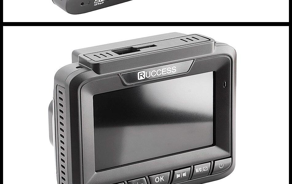 Ruccess 3 in 1 Car Radar Detector DVR Built-in GPS Speed Anti Radar Dual Lens Full HD 1296P 170 Degree Video Recorder 1080P 23