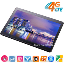Best Seller 10 inch tablet Octa Core 4GB RAM 64GB ROM 4G FDD LTE 1920x1200 IPS 8.0MP Dual SIM Cards GPS Android 6.0 Tablets 10.1(China)