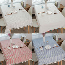 Tablecloth Grid Home Dining Tableware Living Room Cloth Table Cover Decoration Party Picnic Mats 100x140/140x140/140x180/140x200