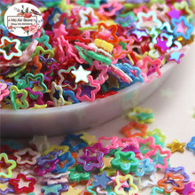 10000pcs/lot 4mm shiny cute mini star lovely laser paillette hollow out decoration multicolor DIY accessories