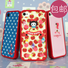 Polka dot little red riding hood silica gel hard plastic for iphone 4 4s cell phone case protective cover phone shell
