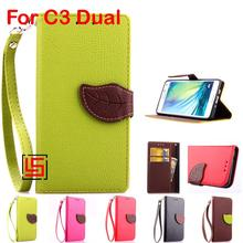 Buy Leaf Clasp PU Leather Flip Filp Wallet Wallt Phone Mobile Case capinha fundas Cover Sony Xperia Xpera C3 Dual Green Rose for $4.64 in AliExpress store