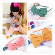 Big Bow Headband Korean girls cloth head ornaments adult children can be a child