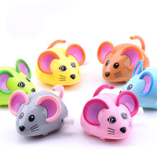 Hot sale Children chain small toys baby first cartoon mouse animal toys , baby infant wind up toys F20(China)