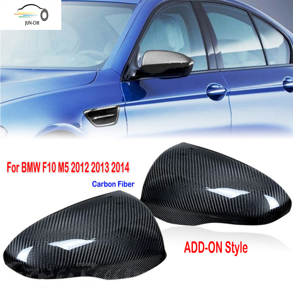 F10 M5 Side Mirror Cover Cap Add On Style Carbon Fiber Car Styling for BMW F10 M5 2012 2013 2014 Mirror Cover<br><br>Aliexpress