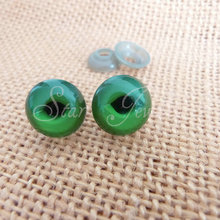 50pcs 16mm green toy cat eyes with soft washers/#yds(China)