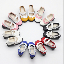 Free Shipping Doll Accessories Mini Lovely Shoes 7.5cm 1/3 BJD Doll Leather Shoes For Sharon Doll