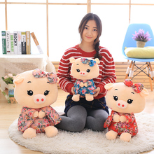 Direct deal kimono pig giant plush doll pig toys for children gift High quality and low price 43cm