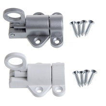 Security Pull Ring Spring Bounce Door Bolt Window Gate Aluminum Self Closing Latch Bolt