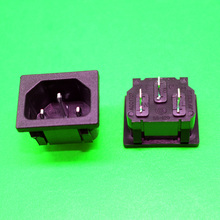 1x New Hot Selling Black 3Pin All copper CE CCC certification Power Plug Socket AC 250V 10A