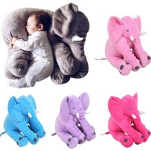 Cute Small Size Baby Kids Children Long Nose Elephant Doll Toy Soft Plush Stuff Toys Lumbar Pillow Doll