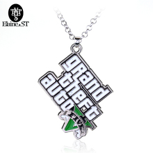 Free Shipping Classic PS4 GTA 5 Game Necklaces & Pendants Grand Mens Theft Auto 5 Necklace Xbox PC Rockstar Christmas Gifts