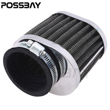 POSSBAY Stainless Racing Motorcycle Air Filter/Pods 50MM Air Filter Cleaner For Honda Kawasaki Scooter Motorbike Cafe Racer ATV