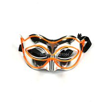 Blinking Mask Decorative Orange EL Wire Mask Cool Luminous LED Light Up Mask for Night Club Dance Party Supplies(China)