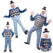 Halloween Twin Boy Girl Adult Fat Dwarf Cosplay Costume Fancy Funny Drama School Stage Adult Kids Performance Clothing for Twins