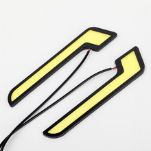 2PCS 20W/Set COB Waterproof  DRL Fog Bright  Car Led Driving Lamp Daytime Running Light Bar Light Ultrathin White 6000K