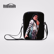 Dispalang Casual Shoulder Bag Michael Jackson Small Cross Body Bags For Ladies Travel Messenger Bag Crossbody Bag MJ Fans Gifts