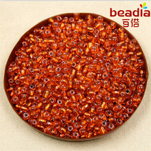 Wholesale Price 80g/lot 4mm Czech Glass Seed Beads Crystal Loose Spacer Beads with Silver Lining for Jewelry Making Supplies