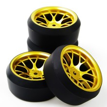 1/10 RC Car Drift Tires Tyre & Wheel Rim 4PCS Set DHG+PP0370 Model Toys For On-Road Model Car Accessory