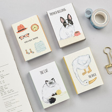 240 Sheets 6 Folds Good Life Series Notes Pad Cute Cat Duck Stickers Creative Post it Memo Pad Sticky Label Stationery
