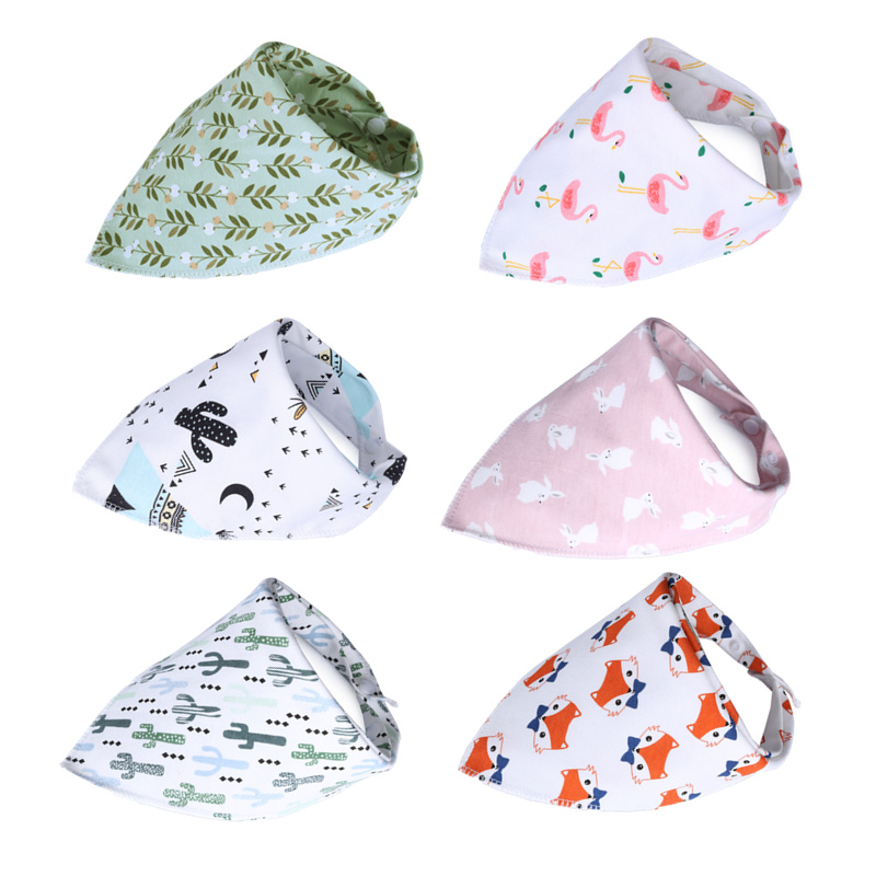 Baby Bandana Bibs Cotton Baby Feeding Cloth Cartoon Babador Flamingos Newborn Saliva Smock Children Burp Cloth Baby Eating Scarf(China)