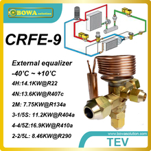 CRFE-9 R134a two cooling ton extenal TVX with thread connection replace Honeywell TLK, TLE-TLEX, TBEX, TOEX, TLESX and TLEX