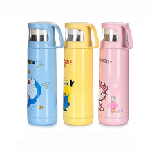 Cartoon Child Insulation Cup Water Bottle 500ml Hello Kitty Lovely Stainless Steel Insulation Pot E0
