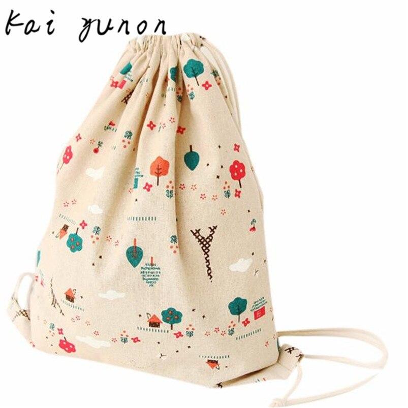 kai yunon Women Retro Drawstring Beam Port Backpack Shopping Bag Travel Bag Sep 8<br><br>Aliexpress